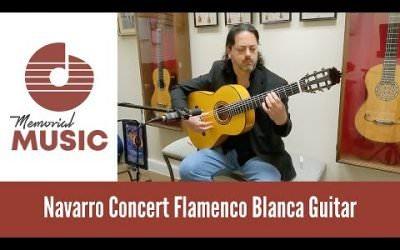 New Video: Demo: Navarro Concert Flamenco Blanca Guitar / MemorialMusic.com