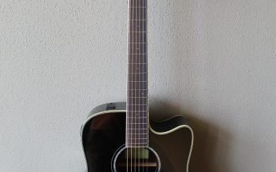 Just added to the store: Yamaha FGX830C Dreadnought Acoustic/Electric Guitar with Gig Bag – Black