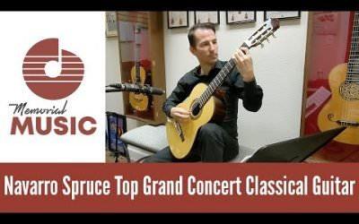 New Video: Demo Navarro Spruce Top Grand Concert Classical Guitar / MemorialMusic.com