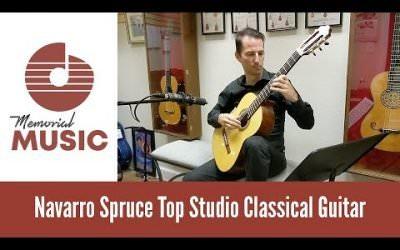 New Video: Demo: Navarro Spruce Top Studio Classical Guitar / MemorialMusic.com