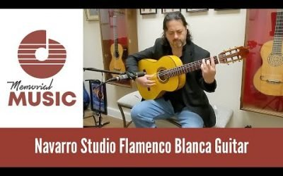 New Video: Demo: Navarro Studio Flamenco Blanca Guitar / MemorialMusic.com