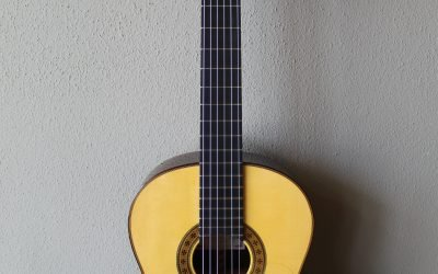Just added to the store: Used 2020 Francisco Navarro Reyes Model Grand Concert Flamenco Negra Guitar