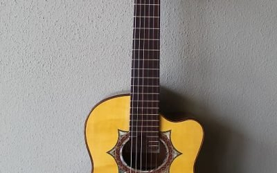 Just added to the store: Marlon (Francisco) Navarro Acoustic/Electric Requinto Guitar with Cutaway