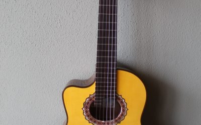 Just added to the store: Marlon (Francisco) Navarro Left Handed Acoustic/Electric Requinto Guitar with Cutaway