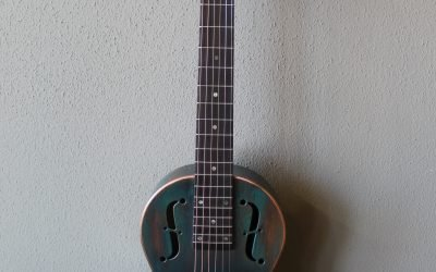 Just added to the store: Recording King RM-993-VG Metal Body Parlor Resonator Guitar